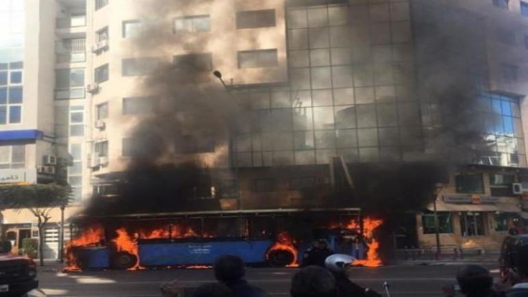حريق يلتهم حافلة للنقل الحضري بالدار البيضاء