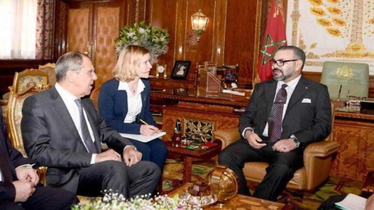 جلالة الملك يستقبل وزير الشؤون الخارجية بفدرالية روسيا