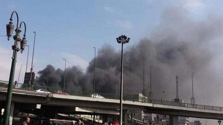 قتلى وجرحى إثر حريق ضخم بمحطة القطارات الرئيسية بالقاهرة
