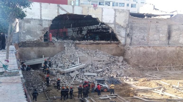 مصرع شخصين في حادث انهيار سور أحد المصانع المهجورة بالدار البيضاء