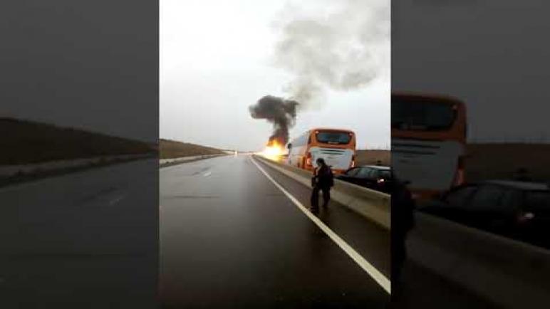 حريق شاحنة محملة بقنينات الغاز بالطريق السيار الرابطة بين مدينتي أكادير ومراكش