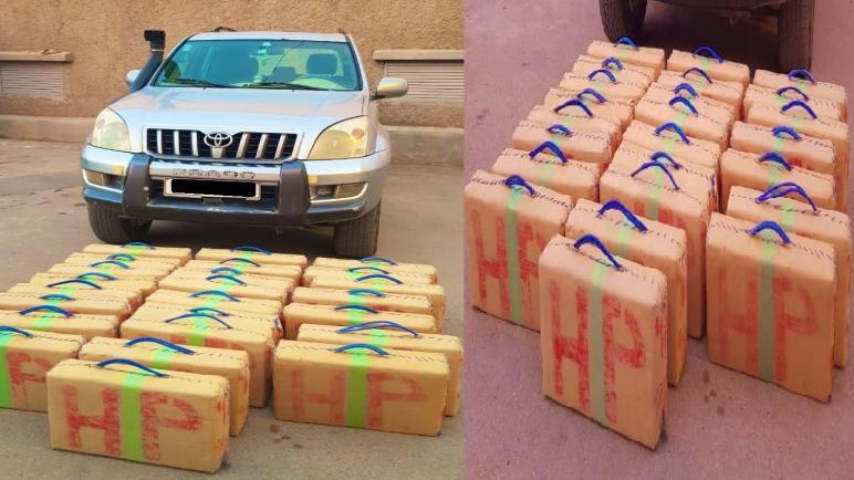 الرشيدية… الأمن يحجز 600 كيلوغرام من الشيرا من مخدر الشيرا