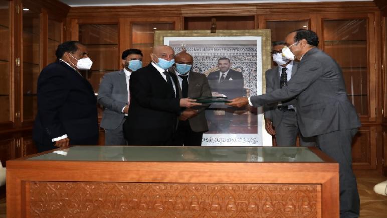 الحبيب المالكي و رئيس مجلس النواب الليبي يوقعان على اتفاقية للتعاون بين المجلسين