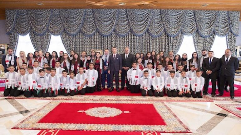 الأمير مولاي الحسن يستقبل الأطفال المقدسيين المشاركين في الدورة 12 للمخيم الصيفي