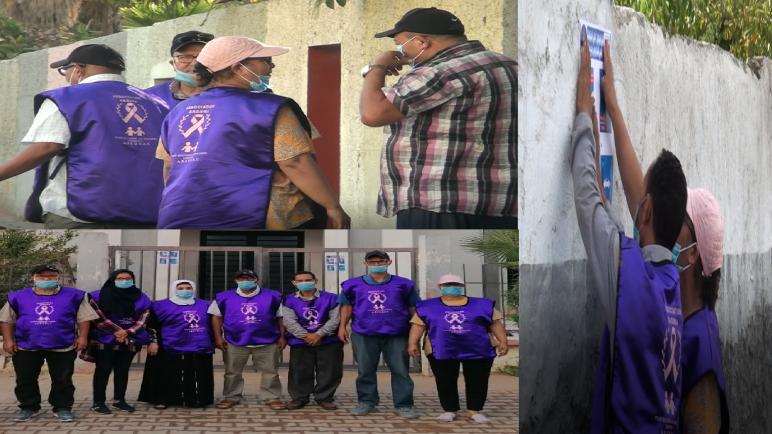 حملة تحسيسية لتقريب ساكنة سيدي مومن من طرق الوقاية من كورونا