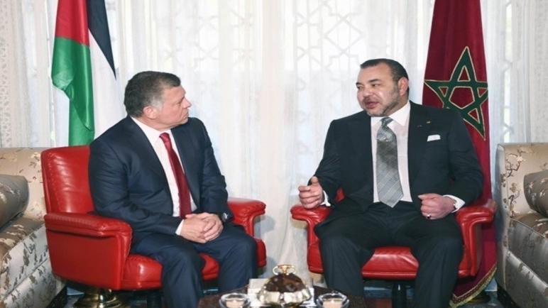 جلالة الملك يتلقى اتصالا هاتفيا من ملك المملكة الأردنية الهاشمية