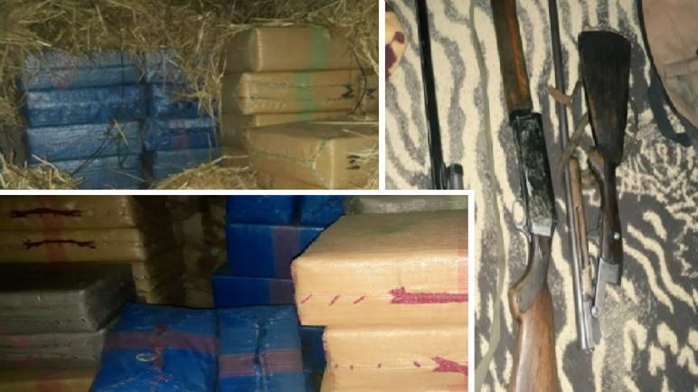 كلميم … حجز أزيد من 7 أطنان من مخدر الشيرا وبندقيتين للصيد و ذخيرة