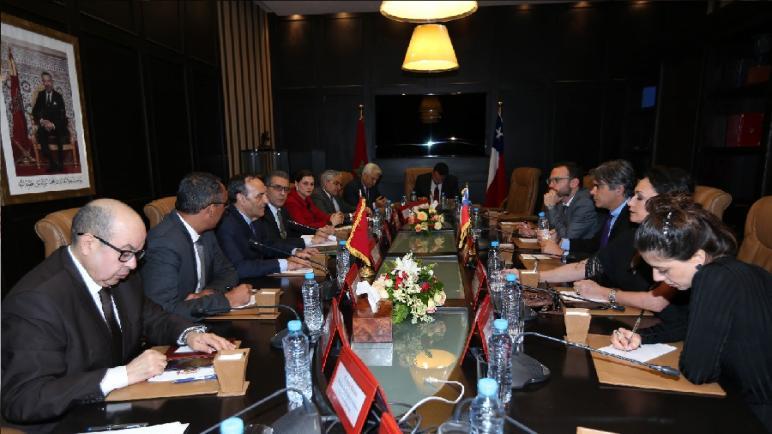 رئيس مجلس النواب يستقبل رئيس وأعضاء مجموعة الصداقة البرلمانية الشيلي-المغرب بمجلس النواب الشيلي