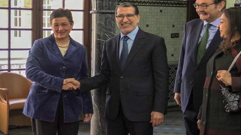 """العثماني يجري مباحثات مع """"أرانشا غونزاليز لايا"""" وزيرة الشؤون الخارجية والاتحاد الأوروبي والتعاون الإسبانية"""