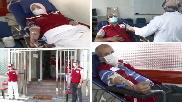الهلال الأحمر المغربي فرع الدار البيضاء أنفا ينظم حملة للتبرع بالدم