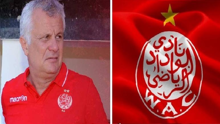 نادي الوداد الرياضي ينفصل عن مدربه الصربي زوران مانولوفيتش