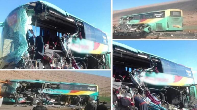 3 قتلى و10 مصابين في حادث اصطدام بين حافلة لنقل الركاب و شاحنة بكلميم
