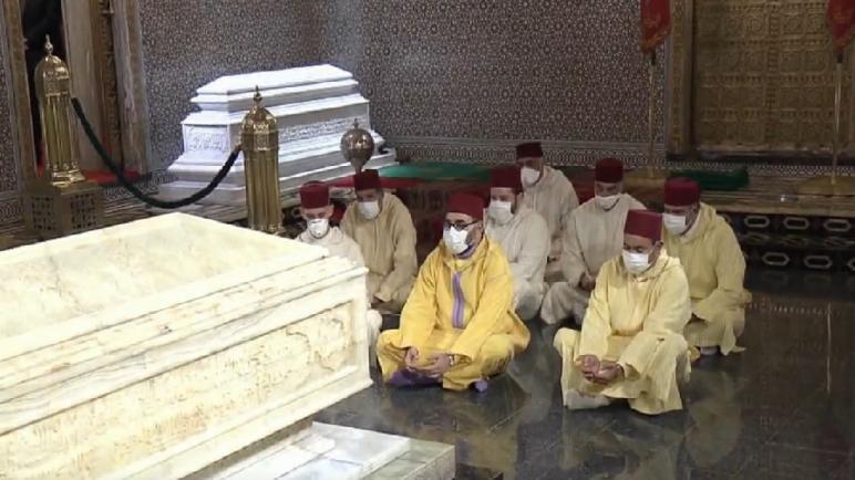 جلالة الملك محمد السادس يترحم على روح جلالة المغفور له الملك محمد الخامس