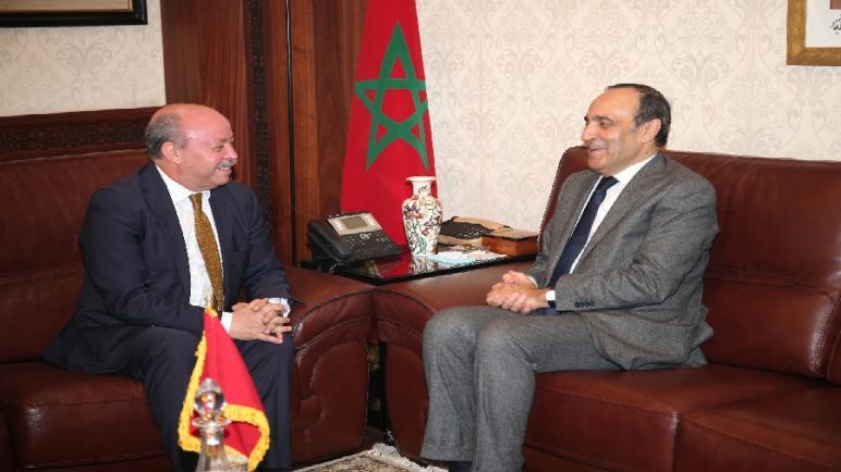 رئيس مجلس النواب يستقبل سفير الجمهورية الجزائرية بالرباط