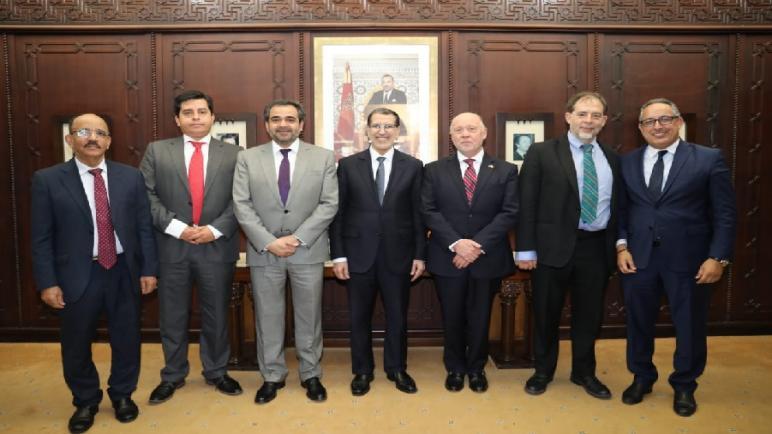 """رئيس الحكومة يستقبل السيد """"خايمي كينتانا"""" رئيس مجلس الشيوخ بجمهورية الشيلي"""