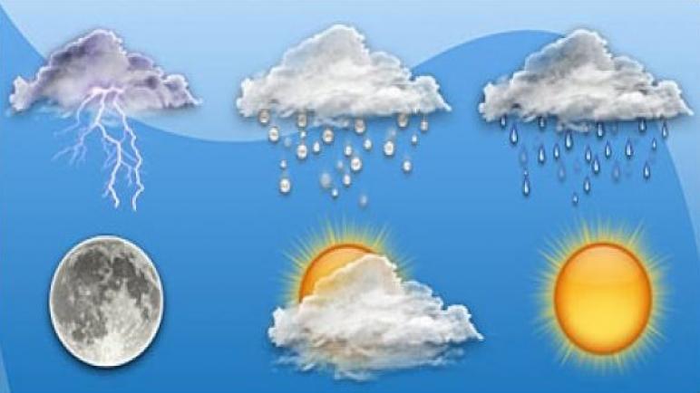 توقعات أحوال الطقس لنهار اليوم …أجواء باردة وأمطار و زخات رعدية