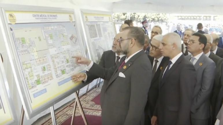 """جلالة الملك يعطي انطلاقة أشغال إنجاز """"المركز الطبي للقرب- مؤسسة محمد الخامس للتضامن"""" بحي بنسودة بفاس"""