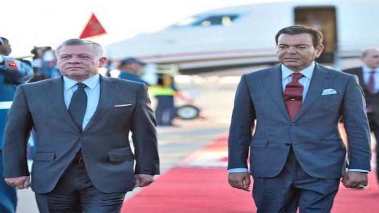 عاهل المملكة الأردنية الهاشمية يحل بالدار البيضاء في زيارة صداقة وعمل للمغرب