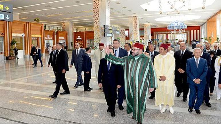 جلالة الملك يدشن المحطة الجديدة لمطار فاس سايس