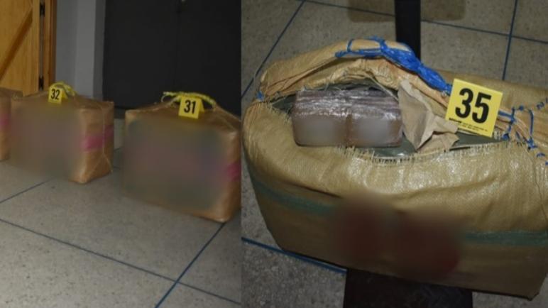 أمن الحسيمة يتمكن من حجز 150 كيلوغراما من مخدر الشيرا.