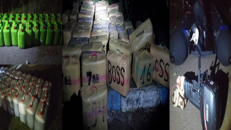 أمن أصيلة يجهض عملية للتهريب الدولي للمخدرات ويحجز 4 أطنان 60 كيلوغرام من مخدر الشيرا