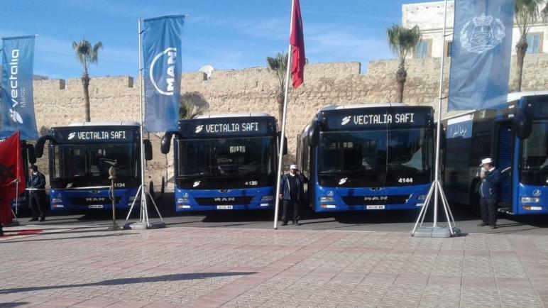 أسطول النقل الحضري بأسفي يتعزز بحافلات جديدة